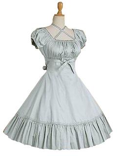 0046776a357 Sweet Lolita Dress OP Burgundy Short Sleeve Lolita One Piece Dress