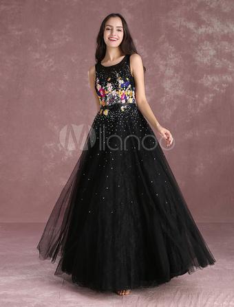 Belle robe soiree fleurie