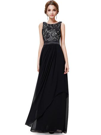 fac55f19391 Платье вечернее из шифона и атласного переплетения из шифона
