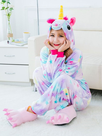 51b0d4a541 Dreaming Star Unicorn Kigurumi Pajamas 2019 Onesie Flannel Unicornio  Halloween Costume