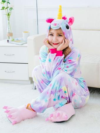 aa48b4f4a0a Dreaming Star Unicorn Kigurumi Pajamas 2019 Onesie Flannel Unicornio Halloween  Costume