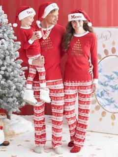 5372f4b3ce Pijamas Hombre de algodón rojo estilo masculino para adultos con Top con  pantalones Pijama Navidad Hombre