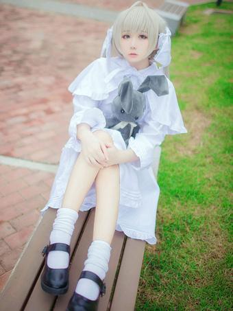 Anime Yosuga no Sora Kasugan sora maid Cosplay Costumes Women Party Suit Dress