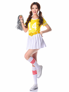 Sexy Cheerleader Costume Women Sexy Halloween Costume  sc 1 st  Milanoo.com & cheerleader costume cheerleading costumes Halloween cheerleader ...