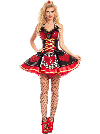2b638ac71c2a Halloween Costume Sexy Movie Character Red Printed Women Short Dresses