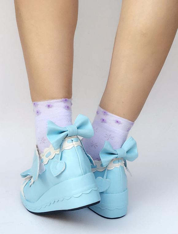 Zapatos de lolita con dibujo retazados Zapatos azules Adidas talla 42 avyQEm