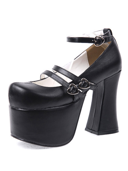 Lolitashow Gothic Black Lolita Chunky