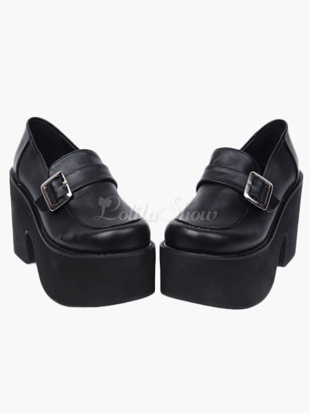 Lolitashow Gothic Black Lolita Heels