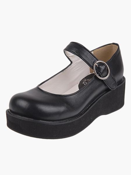 Lolitashow Kawayi Black Lolita Shoes