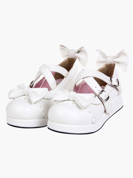 Zapatos de lolita blancos qGnjV