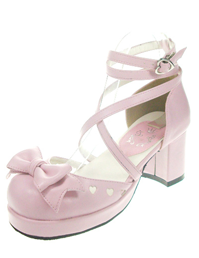 Popular Red High Heels PU Womens Lolita