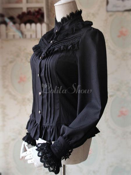 be42264016dae ... Lolitashow White Lolita Blouse Fragrant Series Infanta Chic Chiffon  Shirt For Women ...