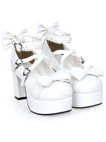 Zapatos Lolita Tacón Cuadrado Tirantes de Tobillo Hebilla eWhW5oML