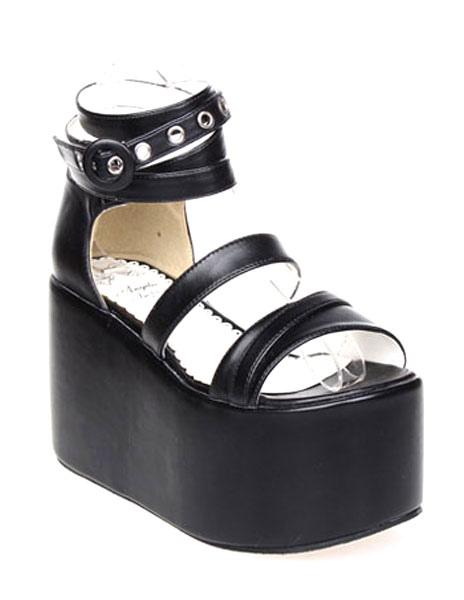 Visite la venta en línea Visita de venta Sandalias Lolita PU Plataforma Alta Tirantes de Tobillo Tienda de liquidación de venta vTiUU