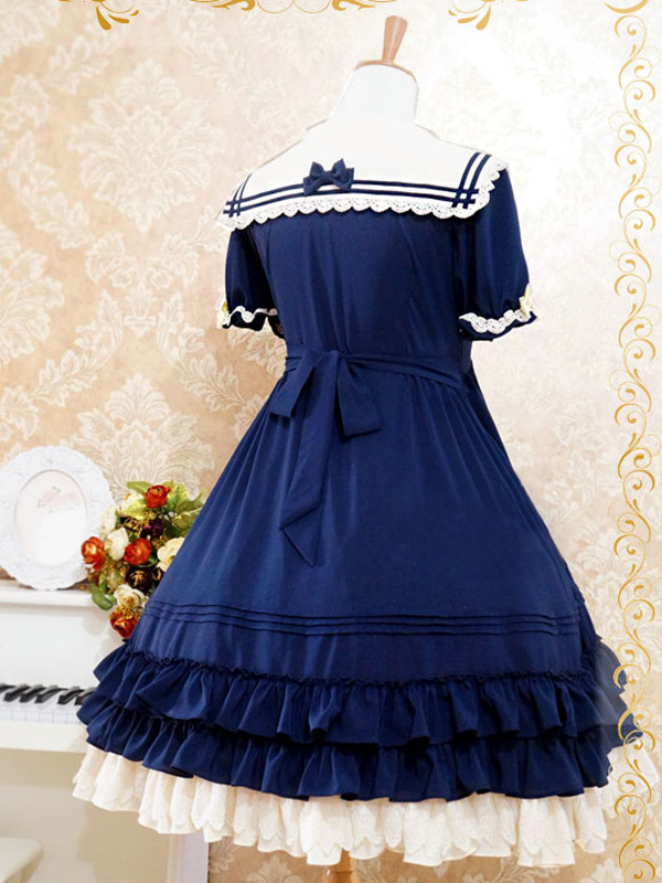 ed3a7b63ed9 ... Lolitashow Sweet Lolita Dress The Sails Of The Rhine Op Lolita One  Piece Dress ...