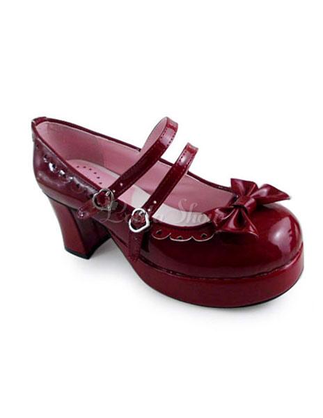 Zapatos de lolita de color borgoña Zapatos grises Biomecanics infantiles ib0MWMFo