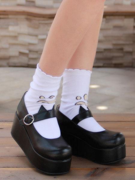 Gothic Lolita Shoes Black Platform Mary