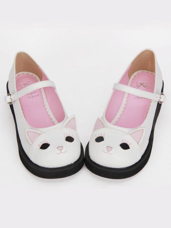 Lolitashow Sweet Lolita Shoes White