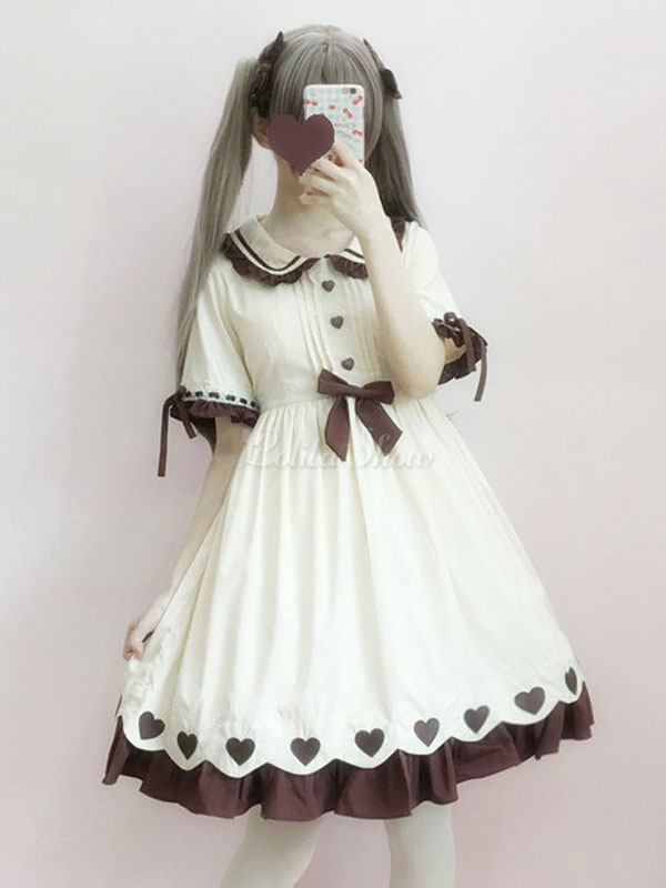 483ade6eb95b Sweet Lolita One Piece Dress Kawaii Caramel Pudding Summer Lolita Op -  Lolitashow.com
