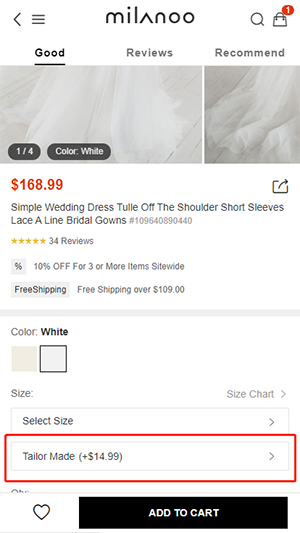 Can you customize the product according to my size (WAP).png