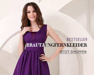 Brautjungfer kleid flieder lang