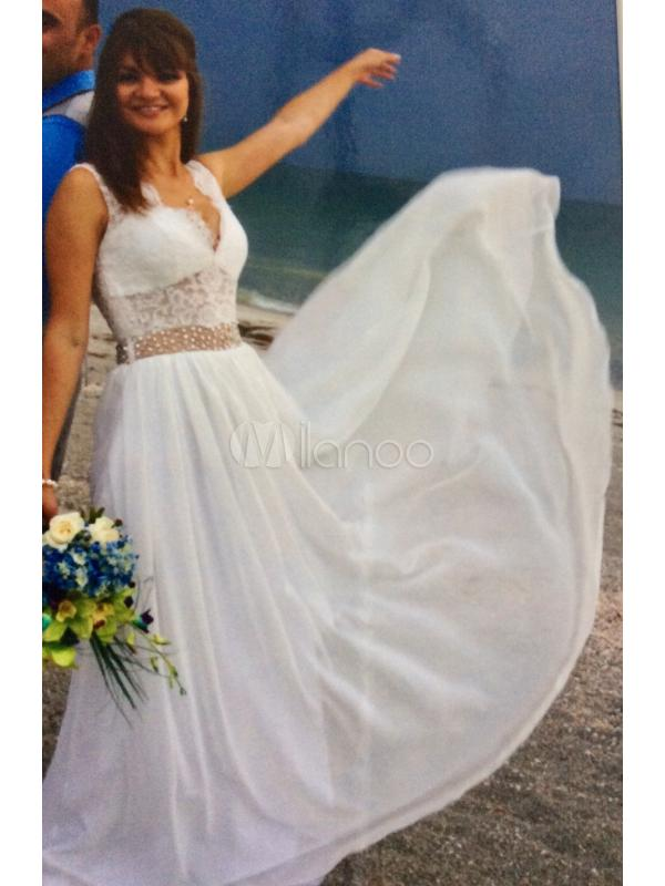 """12c24c93895 I didn t expect find my perfect beach wedding dress on a """"evening dress"""" or  """" prom dress"""" section. So be more creative."""
