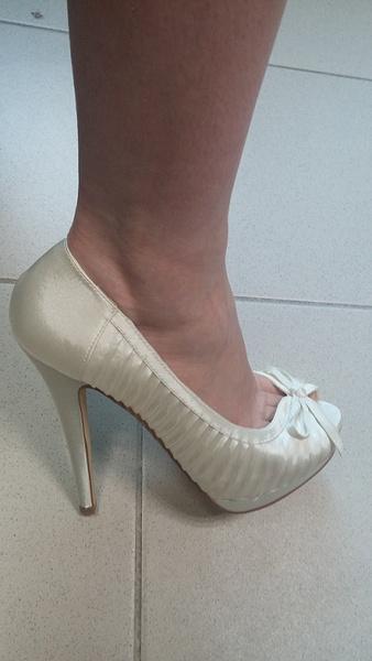 Chaussures pour Femmes Chaussures Fines 14 cm Talons Hauts Chaussures de Mariage Perle Blanche Plate-Forme Chaussures,37,8cm Blanc