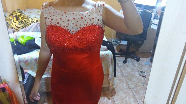 Kundenbewertungen ber rotes prom kleid mit illusion for Rotes kleid mit schlitz