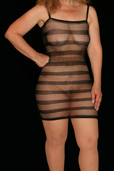 Black One-Piece Stripe Nylon Club dress - Milanoo.com