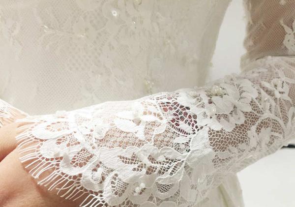 Vintage Lace Wedding Dress, Vintage Tea Leanth Wedding
