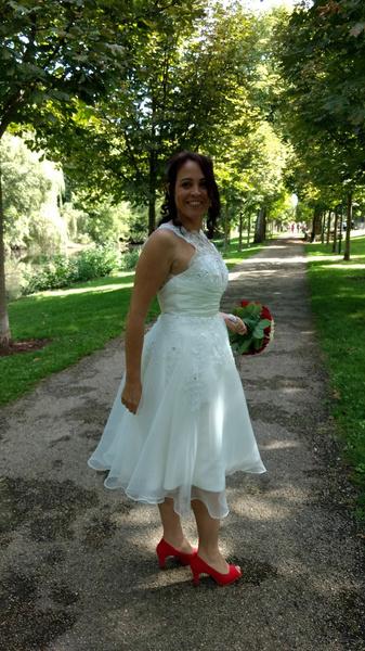 Short Wedding Dresses Vintage 1950\'s Bridal Gown Backless Lace ...
